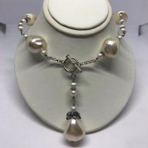 Baroque Pearl Silver Necklace